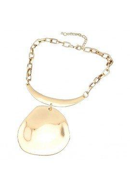 Collar gargantilla de zamak dorado con pieza central, ETNIA