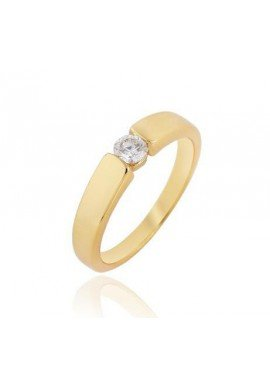 Solitarios en oro goldfilled 18 K
