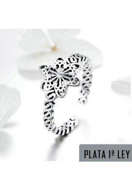 ANILLO SNOW FLOWER PLATA DE LEY