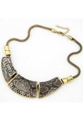 Collar gargantilla de zamak dorado serpiente, ETNIA