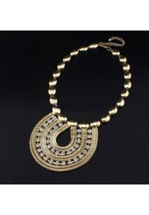 Collar gargantilla étnico de zamak dorado, ETNIA