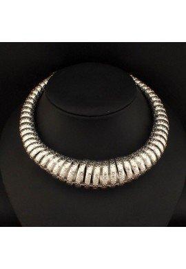 Collar gargantilla de zamak espiral, ETNIA